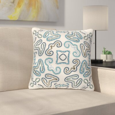 Oak Hill Throw Pillow Cover Size: 20 H x 20 W x 1 D, Color: NeutralBlue