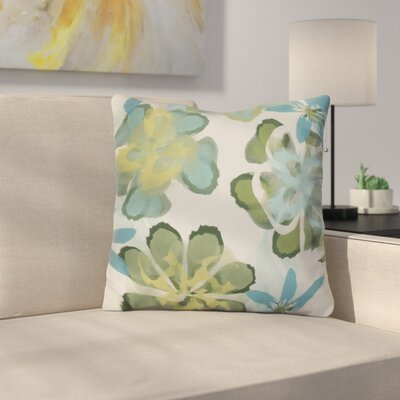 Neville Outdoor Throw Pillow Size: 18 H x 18 W x 3 D, Color: Teal