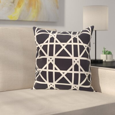 Marissa Trellis Geometric Print Outdoor Throw Pillow Size: 18 H x 18 W, Color: Navy Blue