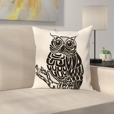 Lynn Animal Print  OutdoorThrow Pillow Size: 20 H x 20 W, Color: Off White - Black