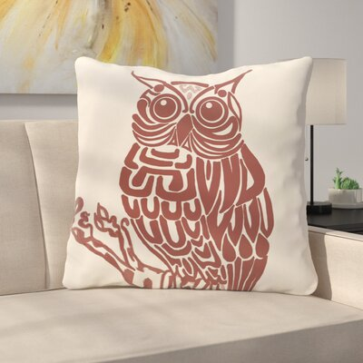 Manwe Bird Print Floor Pillow Color: Off White/Black