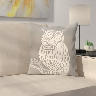 Lynn Animal Print  OutdoorThrow Pillow Size: 18 H x 18 W, Color: Gray