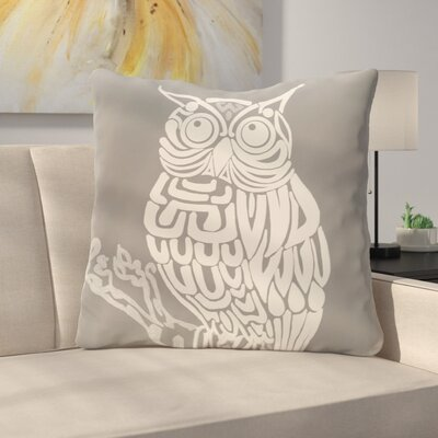Manwe Bird Print Floor Pillow Color: Gray