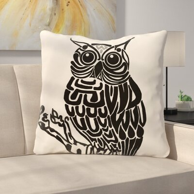 Manwe Bird Print Floor Pillow Color: Off White/Rust