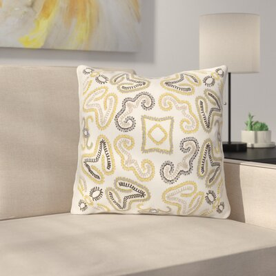 Oak Hill Cotton Throw Pillow Size: 18 H x 18 W x 4 D, Color: Cream/Bright Yellow/Medium Gray/Black/Taupe