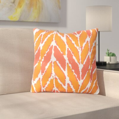 Aren Outdoor Throw Pillow Size: 18 H x 18 W x 4 D, Color: Orange/Coral