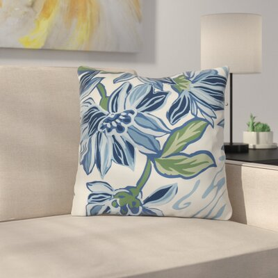 Neville Outdoor Throw Pillow Size: 18 H x 18 W x 3 D, Color: Blue