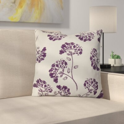 Neville Outdoor Throw Pillow Size: 16 H x 16 W x 3 D, Color: Purple