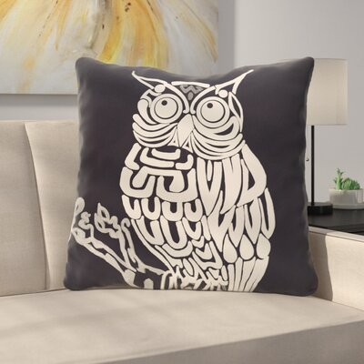 Manwe Bird Print Floor Pillow Color: Navy Blue