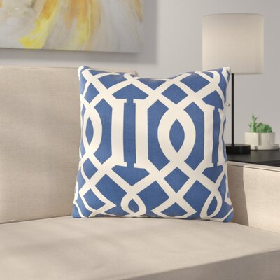 Mulhall Outdoor Pillow Cover Size: 18 H x 18 W x 4 D, Color: Cobalt