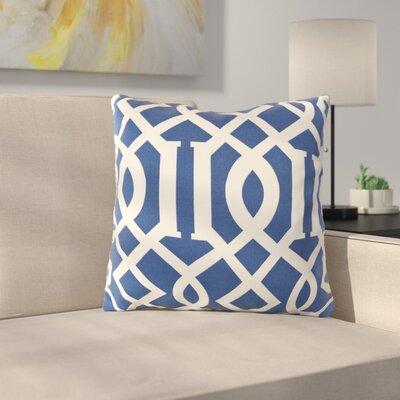 Morfin Outdoor Pillow Cover Size: 18 H x 18 W x 4 D, Color: Cobalt