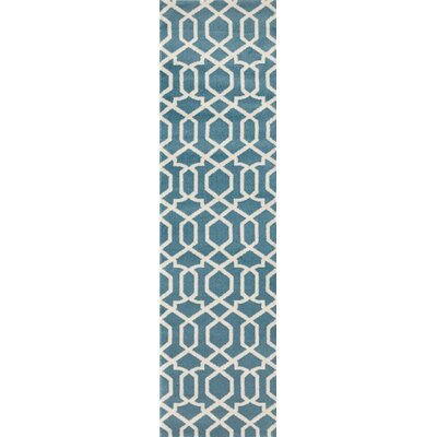 Shields Blue Area Rug Rug Size: Runner 2 x 72