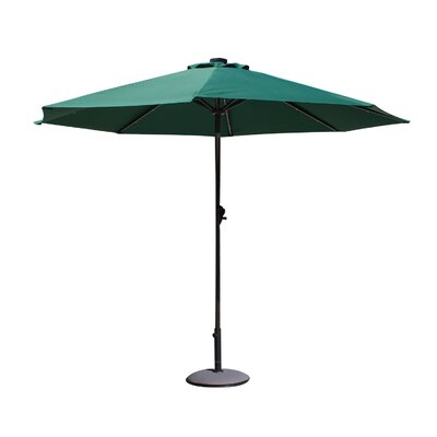 Davian 9 Illuminated Umbrella Fabric: Dark Green