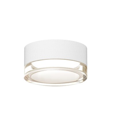 Algarin 1-Light LED�Flush Mount Finish: White