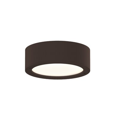 Algarin 1-Light LED�Plate Lens Flush Mount Finish: Bronze