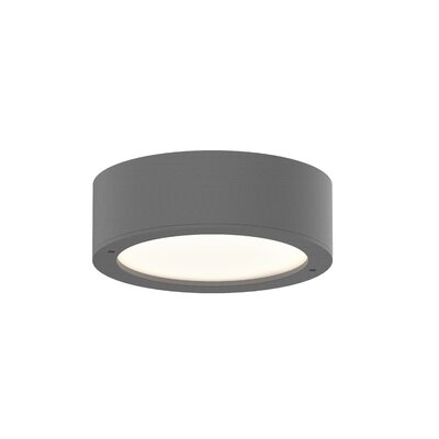 Algarin 1-Light LED�Plate Lens Flush Mount Finish: Gray