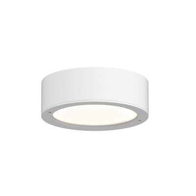 Algarin 1-Light LED�Plate Lens Flush Mount Finish: White