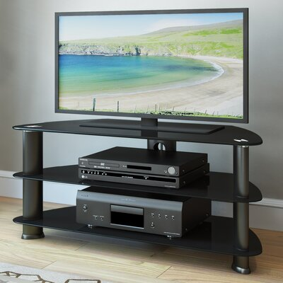 Baxley 40-55 TV Stand Width of TV Stand: 19.5 H x 55 W x 17.75 D