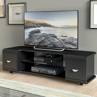 Norton 47-56 TV Stand Color: Black, Width of TV Stand: 16 H x 56 W x 18 D
