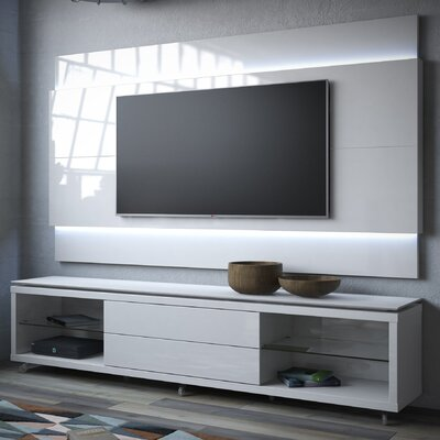 Franklin 77-95 TV Stand Color: White Gloss, Width of TV Stand: 74.44 H x 76.77 W x 17.63 D