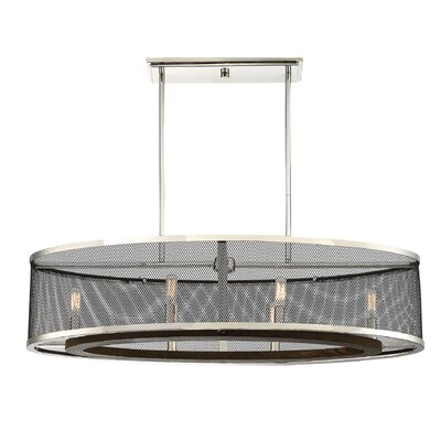 Theron Trestle 6-Light Kitchen Island Pendant