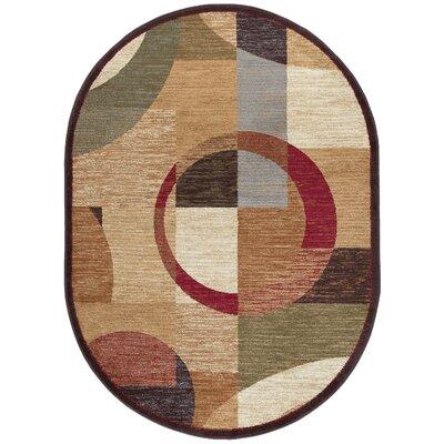 Colette Geometric Tan Area Rug Rug Size: Oval 67 x 96