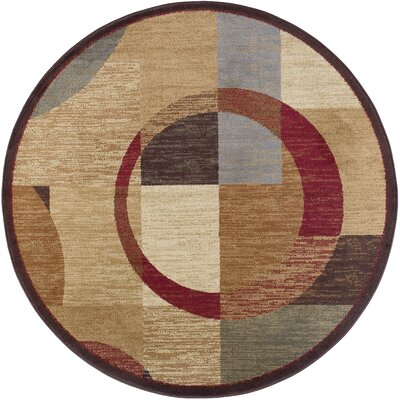 Colette Geometric Tan Area Rug Rug Size: Round 710