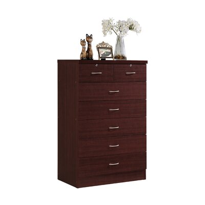 Chesapeake 7 Drawer Chest Color: Mahogany