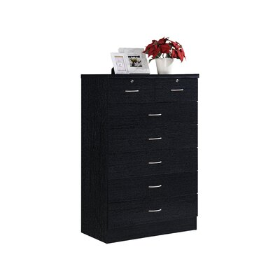 Chesapeake 7 Drawer Chest Color: Black