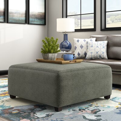 Ossu Cocktail Ottoman Upholstery: Gray Green