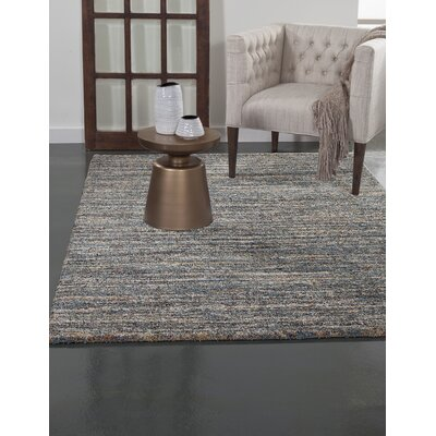 Rochester Blue Area Rug Rug Size: 53 x 76