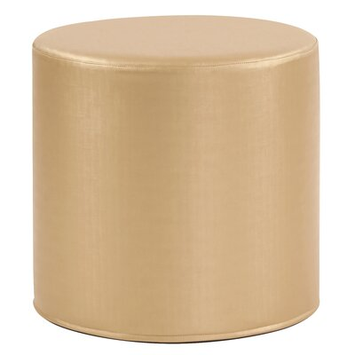 Contreras Cylinder Shimmer Ottoman Upholstery: Gold