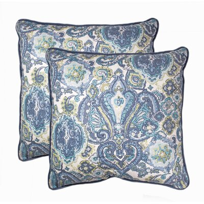 Knowlton Decorative 100% Cotton Throw Pillow Color: Navy
