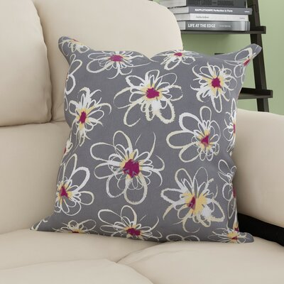 Cherry Penelope Geometric Print Throw Pillow Size: 16 H x 16 W, Color: Gray