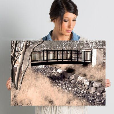 Bridge Over Wash' Framed Photo Graphic Print on Canvas Size: 16