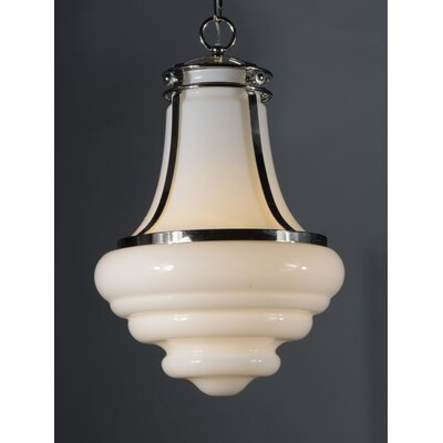 Caulkins 1-Light Schoolhouse Pendant