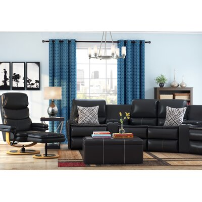 Winnols Leather Club Recliner and Ottoman