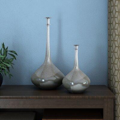 """White Glass Decorative Bottle Size: 18.5"""" H x 9"""" W x 9"""" D LATR6284 33525731"""