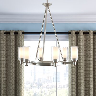 Styx 6-Light Shaded Chandelier Finish: Brushed Nickel
