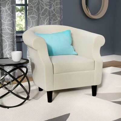 Marsdeni Barrel Chair Upholstery: Stallion Ivory