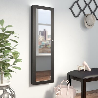 Bohdalice Over The Door Jewelry Armoire with Mirror Color: Espresso