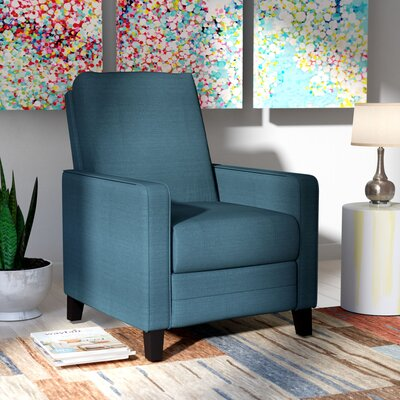 Kari Manual Recliner Upholstery: Blue