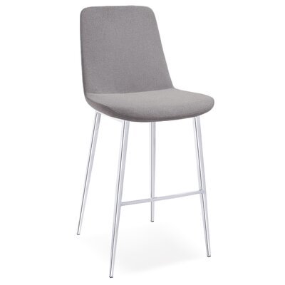 Dunlevy 38 Barstool (Set of 2) Upholstery: Gray