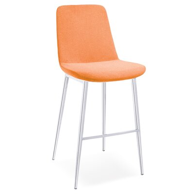 Dunlevy 45 Barstool (Set of 2) Upholstery: Orange