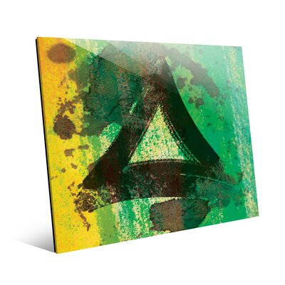 'Emerald Painted Triangle' Graphic Art Print Size: 11