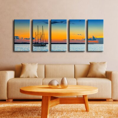 Quiescent' 5 Piece Photographic Print on Canvas Set
