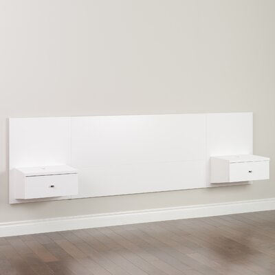 Chon Panel Headboard Size: Queen, Color: White