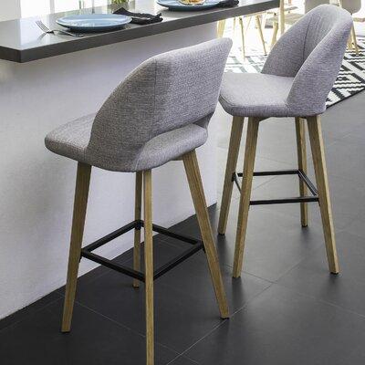 Viola 30 Bar Stool Upholstery: Dove Gray