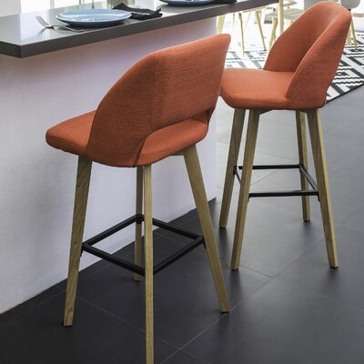 Viola 30 Bar Stool Upholstery: Sunrise Red