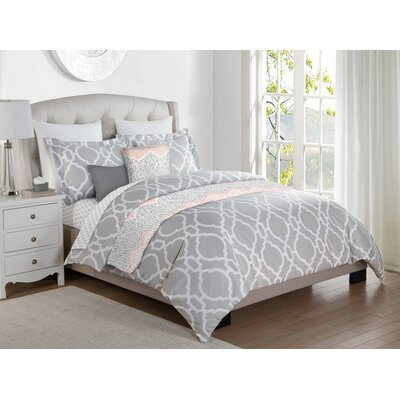 Dendy 10 Piece Reversible Bed-In-a-Bag Set Size: King